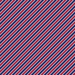 Patriotic Diagonal Stripes