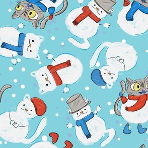 Winter Snowcat Cats!