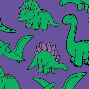 Purple Dinosaurs