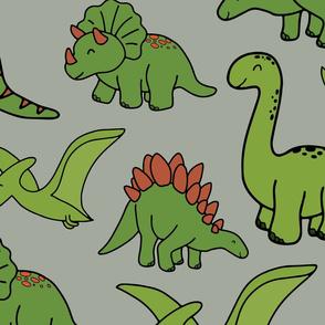 Grey Dinosaurs