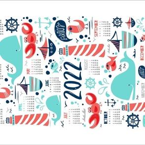 2020 Calendar Tea Towel - Ahoy Matey Nautical