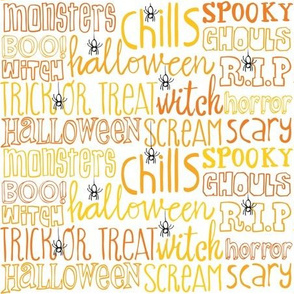 Scary and Scream lettering