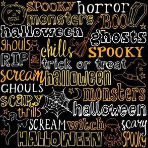 Spooky Horror Lettering