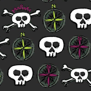 Pirate's Life - Skulls and Compasses