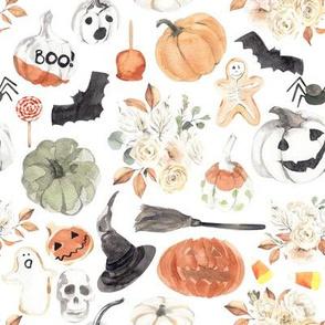 """8"""" Spooky Little Halloween // White"""