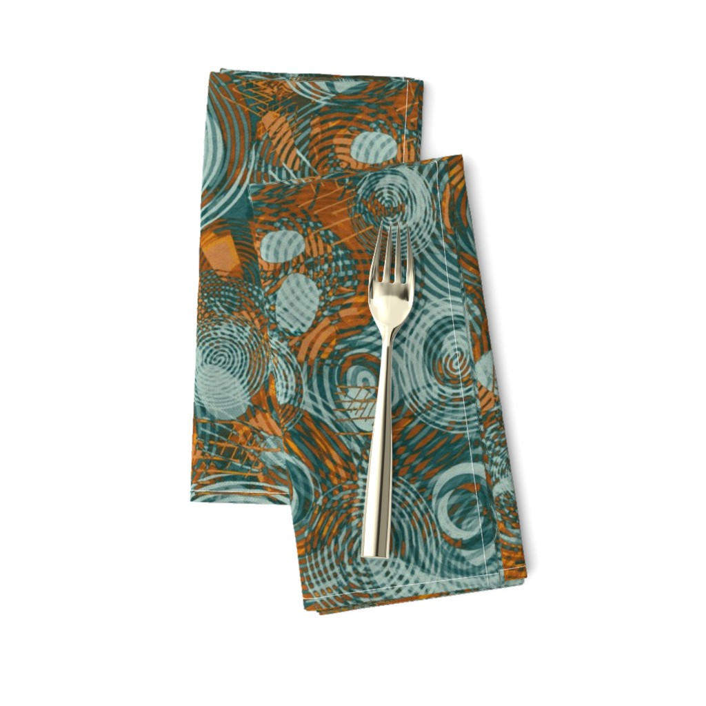 Amarela Dinner Napkins featuring garden-copper-patina by wren_leyland