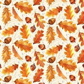 Acorns and Oak Leaf - Cream