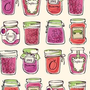 Plum Jam in Jars