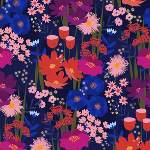 Summer Nights Floral Magenta