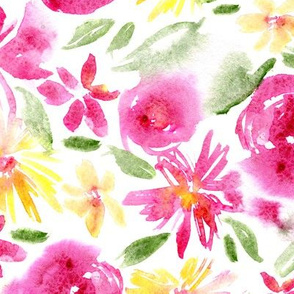 Bloom vibes in pink • watercolor florals