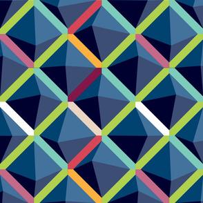 Color Block Blues (Large Scale) by ArtfulFreddy