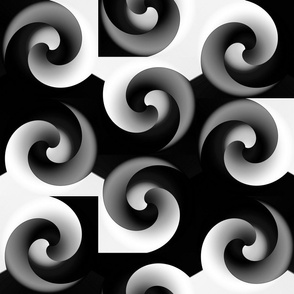 Spiral Incursion - black & white