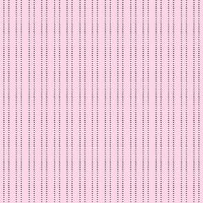 Pink mini dash stripe