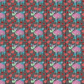 gingham goat tile 1