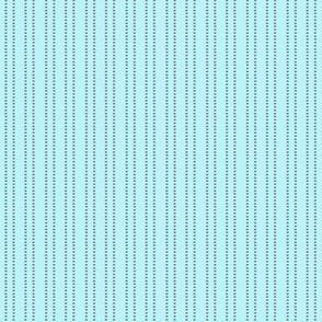 Blue mini dash stripe