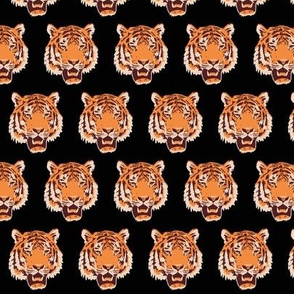 """Timothy the Tiger on black - 1.5"""""""