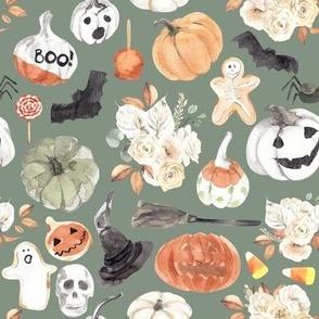 "8"" Spooky Little Halloween // Spanish Green"