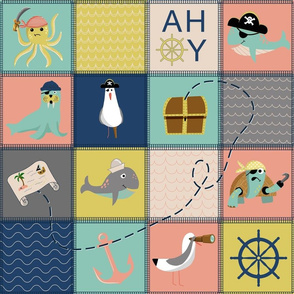 Pirates nursery cheater quilt