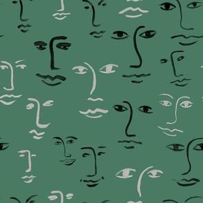 mixed faces - moss