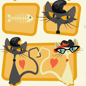 Rockabilly Cats - Apricot