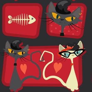 Rockabilly Cats - Scarlet