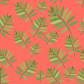 Tropical leaves - living coral