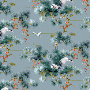 Chinoiserie Cranes ~ Blue
