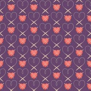 Knitter's Heart Purple