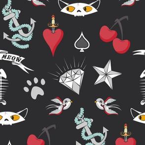 Rockabilly Cat Tattoos