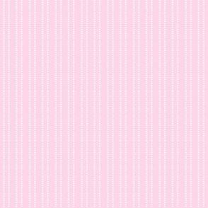 pink and white mini dash stripe