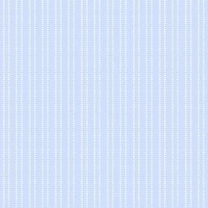 blue and white dash stripe