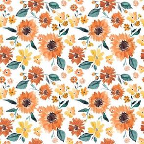 IBD Pumpkin spice sunflowers white 4x4