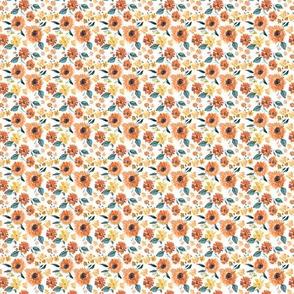 IBD Pumpkin spice sunflowers white 1.3x1.3