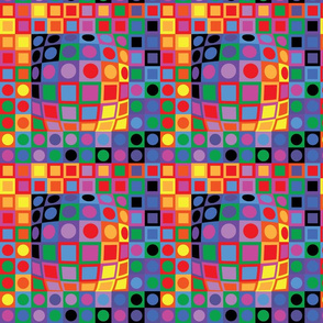 Homage To Vasarely-Color Blocking-Large