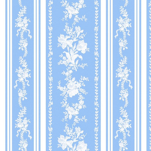 Belvedere Floral Stripe ~ Jasper Ware and Blue and White