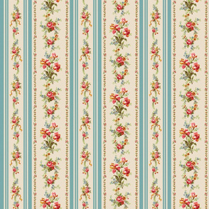 Belvedere Floral Stripe ~ Original  ~ Medium