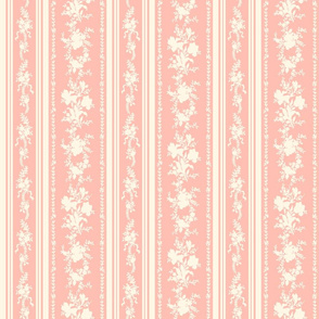 Belvedere Floral Stripe ~ Pierina and Cosmic Latte