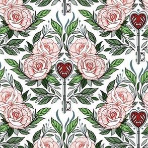 Skeleton Key & Roses