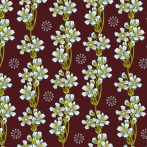 White Flytrap Flowers-Wine