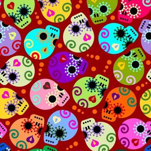 DOTD skulls red medium size
