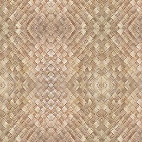 Triangle weave Lauhala-greige