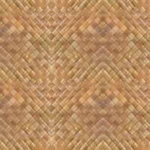 Pattern lauhala weave-dark honey