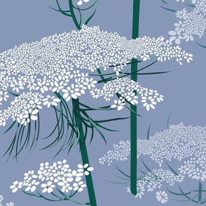 Large | Queen Annes Lace | Blue Gray