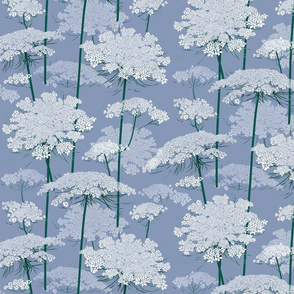 Small | Queen Annes Lace | Blue Gray