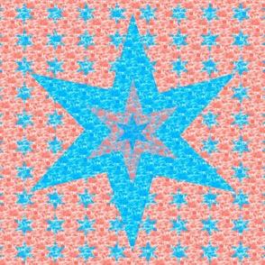 Cheater Quilt - Aqua Star