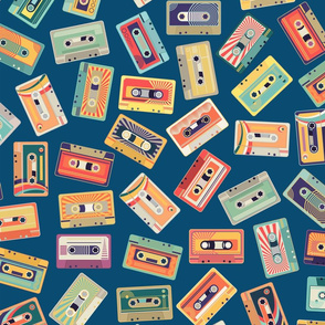Retro Cassette Tossed