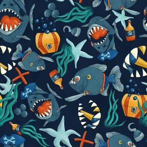 pirate piranhas underwater
