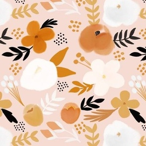vintage golden hour fall florals