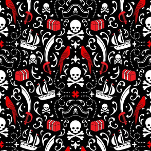 A Pirate's Life Damask