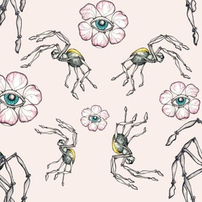 spiders and flowers